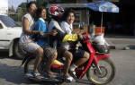 Как на мотоцикле сидеть пассажиру