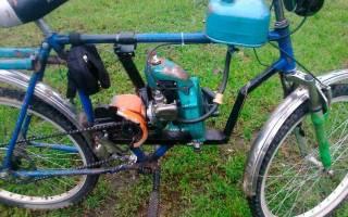 Как на велосипед поставить мотор от бензопилы