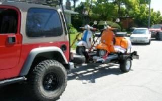 Как перевезти мопед в легковой машине