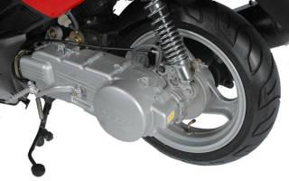 Как открутить заднее колесо на скутере