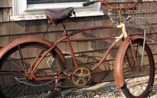 Как отмыть ржавчину с велосипеда