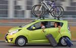 Как закрепить велосипед на багажнике автомобиля