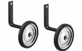 Как установить боковые колеса на детский велосипед