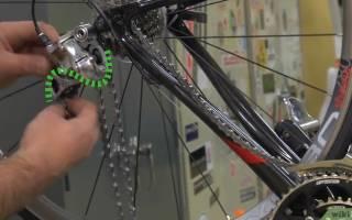 Как на велосипеде одеть цепь