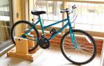 Как сделать велотренажер из детского велосипеда