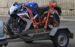 Как перевезти мотоцикл в прицепе