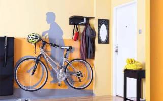 Как велосипед вешать на стену