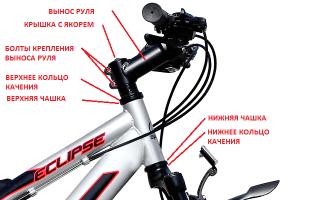 Как на спортивном велосипеде поднять руль