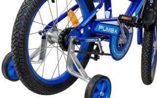 Как крепить дополнительные колеса к детскому велосипеду