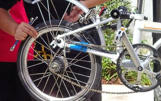 Как правильно установить заднее колесо велосипеда