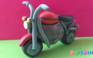 Как сделать из пластилина мотоцикл