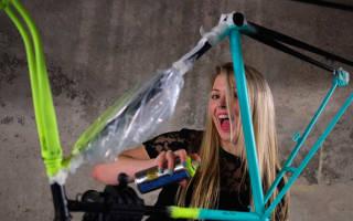 Как покрасить велосипед баллончиком дома