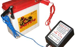 Как зарядить аккумулятор для скутера зарядкой от автомобиля